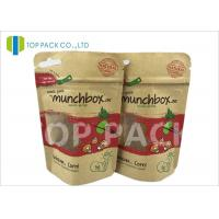 Customized Stand Up Food Pouches For Nuts , Clear Window Kraft Paper Pouches Manufactures