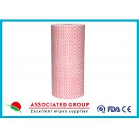 Wavy Printing Spunlace Nonwoven Rolls 65GSM Household & Vehicles Cleaning Wipes Manufactures