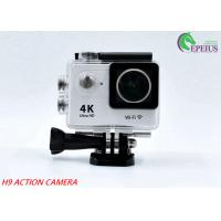 Buy cheap 170D Lens Waterproof Action Camera H9 WiFi 4K 2LCD High Speed Sport Camcorder from wholesalers