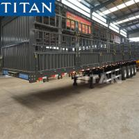 Buy cheap Side Loading Animals Transport Cage Drop Deck Semi Trailer Price from wholesalers