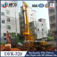 Buy cheap 20m Hydraulic Pile Driver DFR-520 Mounted on Crawler from wholesalers