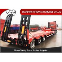 Buy cheap Carbon Steel 60t Semi Low Bed Trailer And Truck With Tractor Horse from wholesalers