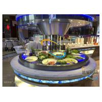 Buy cheap Blue Led Display Restaurant Buffet Counter / Commercial Buffet Serving Tables product