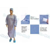 Buy cheap Wood Pulp Spunlace Sterile Disposable Surgical Gown With Knitted Cuff from wholesalers