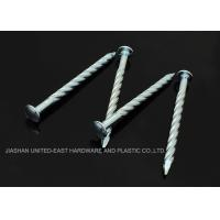 "Wholesale Needle Point Electro Galvanized Twisted Nails 4"" X BWG7 Twisted Shank Nails Resist Corrosion from china suppliers"