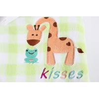 China flannel  Cute Baby Receiving Blankets Soft Touch Animal Printed Tear - Resistant on sale