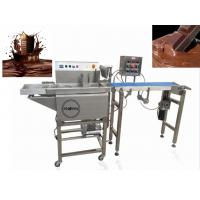 Buy cheap 380V Chocolate Bar Production Line / Commercial Hot Chocolate Coating Machine from wholesalers