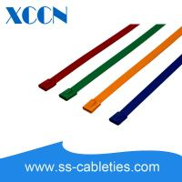 Buy cheap Assorted Zip Reusable Cable Ties , Metal Small Cable Ties Mounts Non Flammable from wholesalers