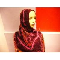 Wholesale Fashion Floral Burnt-out Silk Hijab Scarf from china suppliers