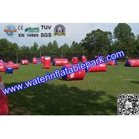 Buy cheap Commercial  Inflatable Paintball Bunker 0.9mm PVC , Durable Paintball Air Bunker from wholesalers
