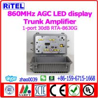 Buy cheap CATV/MATV 860MHz 1-Port output 30dB AGC Trunk Amplifier/Line Amplifier RTA-8630G Outdoor SPS LED display from wholesalers