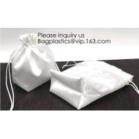 Buy cheap Satin Gift Bag With Logo Printing,Personalized White Satin Pouch Bag, Satin Drawstring pouch bag,Plain Square Bottom Sat from wholesalers