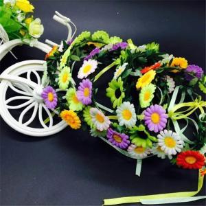 Flower crown floral headband hair head wreath hairband beach accessories for women girls hair tiara Manufactures