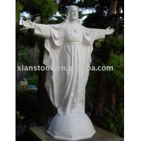 Buy cheap White marble jesus statue from wholesalers