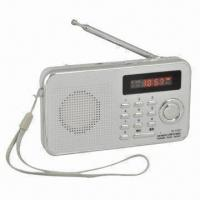 Buy cheap Rechargeable Portable FM Radio/MP3 Player with LED Digital Multifunction Display from wholesalers