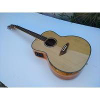 Buy cheap AAA quality new custom guitars OM body african sanders wood solid acoustic electric guitar from wholesalers