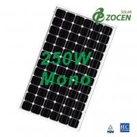 250 Watt Monocrystalline Solar Panel for Camping , Deep Blue MCS / CHUBB Certified Manufactures
