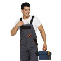 China PRO Heavy Duty Bib Work Pants Woven Twill Fabric With Multi Storage Pockets on sale
