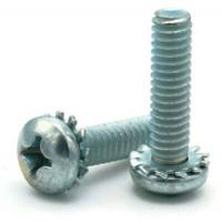 Buy cheap Stainless Steel Pan Head Screws with External-Tooth Lock Washer from wholesalers