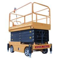 Buy cheap Mobile scissor tables hydraulic electric 500kg 9m indoor scissor lift platform from wholesalers