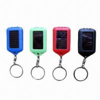 Buy cheap Solar Mini Flashlight Keychains with 3 Pieces LED, Various Colors of LED and Shells are Available from wholesalers