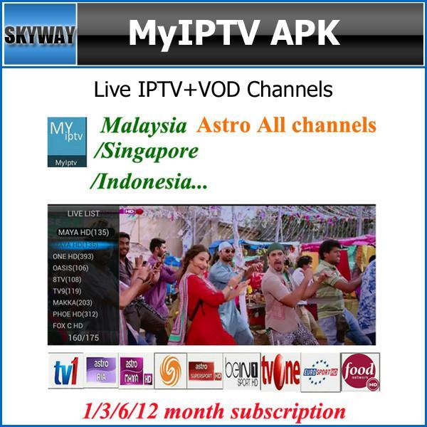 MyIptv/IPTVSO APK, Malaysia Astro all channel/Singapore/Indonesia
