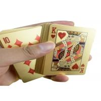 Buy cheap PVC Material 24K Gold Playing Cards Poker Game Deck Gold Foil Poker Set from wholesalers