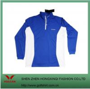 Blue Dry Fit Pique Men Golf Clothing Manufactures