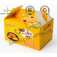Wholesale Custom Printed Foldable Cardboard Food Packaging Boxes For Cup Cake / Dessert Packing from china suppliers