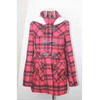 Buy cheap Cute Cotton Check Trench Unique Womens Coats with Hood , Warm wool blend Clothing from wholesalers