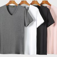 Buy cheap Sports Style Organic Bamboo T Shirt For Male OEM Service Multi Color from wholesalers