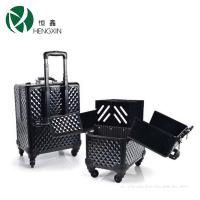 Wholesale Customized Pattern Cosmetic Trolley Case With Make Up Extension Trays from china suppliers