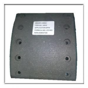Wholesale Semi-metal asbestos free brake lining WVA19032, brake parts,brake liner,brake blocks from china suppliers