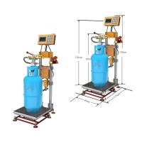 Buy cheap Explosion Proof 120kg LPG Gas Cylinder Filling Machine 1.6Mpa from wholesalers