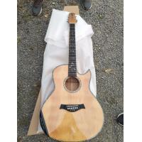 Buy cheap AAAA handmade all Solid single cut guitara 14 frets imported wood armrest GA acoustic electric guitar from wholesalers