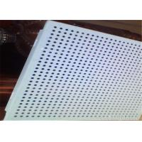 Buy cheap Fireproof Suspended Perforated Aluminum Ceiling Tiles 0.5 - 1.2mm Thickness from wholesalers