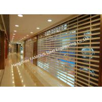 China Motorized Crystal Clear Commercial Rolling Doors Polycarbonate Overhead Doors For Sale on sale