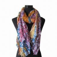 Buy cheap Scarf, Customized Specifications are Accepted, Measures 70x27+3.5 Inches x 2 product