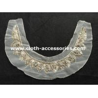 Buy cheap Ladies Acylic Glass Beaded Trimmings / Gunmetal Beaded Collar Applique from wholesalers