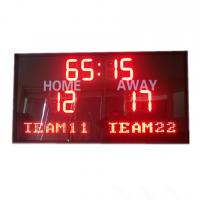 Buy cheap Red Color LED Football Scoreboard With Electronice and Programed Team Name from wholesalers