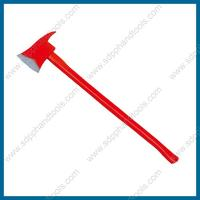 Buy cheap 6LB fire fighting axe with wood handle, red color handle, high quality forcible entry tool, fire rescue tool from wholesalers