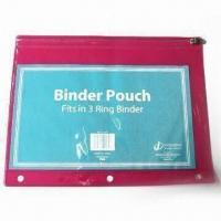 Buy cheap Zipper Binder Pouch, Suitable for Stationary Bag and Gifts from wholesalers