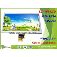 Buy cheap LVDS Interface Industrial LCD Panel High Brightness ZJ080NA - 08A 8.0 Inch 1024 * 600 product