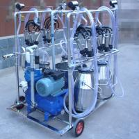 Buy cheap Diesel Engine Eletric Motor Mobile Sheep Milking Machine 550 l / Min Vacuum Pump Capacity from wholesalers