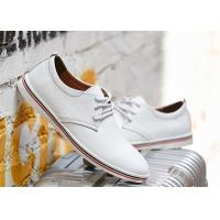 Wholesale Fashion Cowhide Leather Lace Up Shoes , Comfortable Business Casual Shoes Men from china suppliers