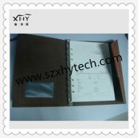 Quality Zip A5 pu leather notebook with 6 ring binder for sale