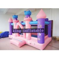 Buy cheap Pink Commercial Princess Bouncy Dream Houses For Toddler / Kids Soft Play from wholesalers