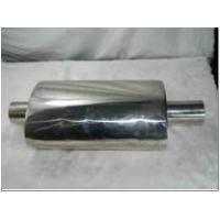 polished stainless steel exhaust performance muffler oval shape box without tail pipes Manufactures
