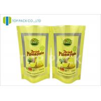 Brown Custom Printed Stand Up Pouch Packaging Tear Notch Transparent Window Manufactures