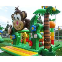 Buy cheap Tropical Safari Theme Kids Commercial Monkey Bouncy Castle Chateaux Gonflables from wholesalers